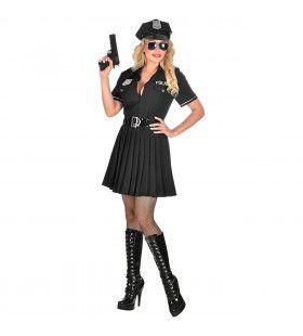 Sexy Agente Onveilig Verkeer Vrouw Kostuum