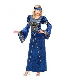 Hofdame Renaissance Gwendolyn Vrouw Kostuum