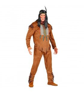 Zoevende Bijl Indiaan Wilde Westen Man Kostuum