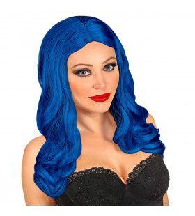 Pruik Roxy Donkerblauw