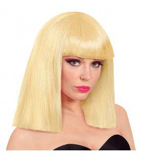Pruik Showgirl Steil Haar Blond