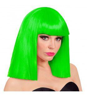 Pruik Showgirl Steil Haar Neon Groen