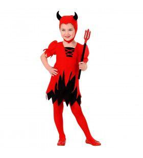 Kleine Opduvel Duivel Vrouw Kostuum