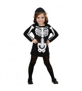 Afgrijselijk Angstaanjagend Skelet Halloween Meisje Kostuum