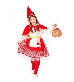 Roodkapje Op Weg Naar Oma Sprookjes Meisje Kostuum