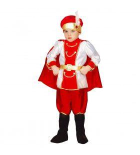 Onmetelijk Rijke Rode Oosterse Prins Jongen Kostuum