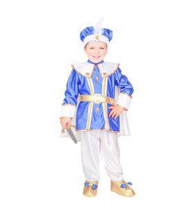 Schatrijke Oosterse Blauwe Prins Jongen Kostuum
