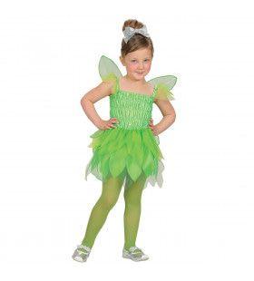 Groene Pixie Huiself Sanne Meisje Kostuum