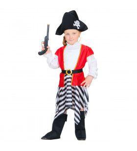 Kaper Kapitein Zilvervloot Meisje Kostuum