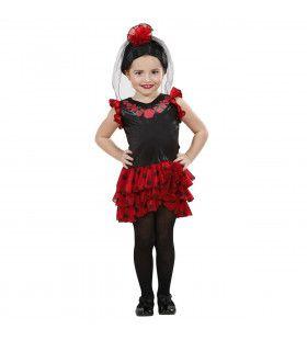 Signorita Carmen Spaanse Flamenco Dame Meisje Kostuum