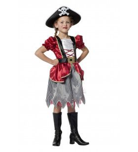 Piratenmeisje Bordeaux Hijs De Zeilen Kostuum