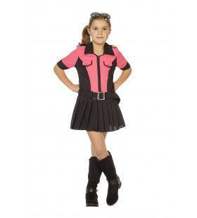 Razend Roze Politie Meisje Kostuum