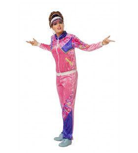 Jogging 80s Pink Trainer Vrouw Kostuum