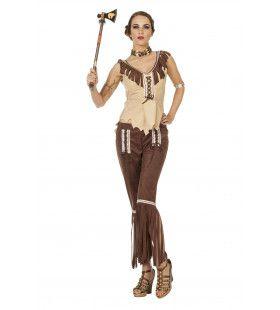 Indiaanse Cherokee Vrouw Kostuum