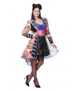 Multi Jas Luxe Bonte Kleuren Vrouw