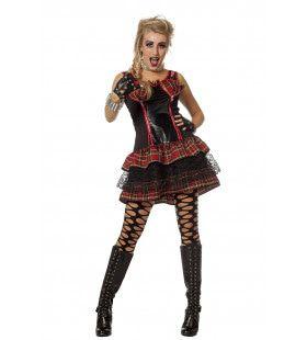 Punk Chick Punkalicious Vrouw Kostuum