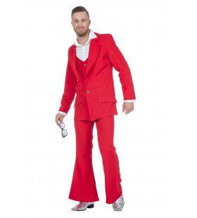 Every Night Fever Rood Man Kostuum