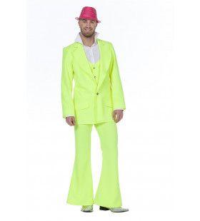 Every Night Fever Neon Groen Man Kostuum