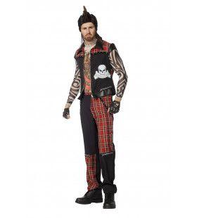 Punker Punkalicious Man Kostuum
