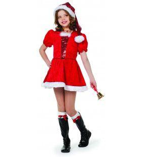 Stralend Kerstmeisje Pailletten Kostuum