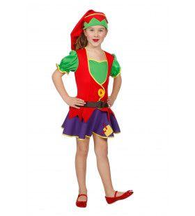 Vrolijk Kabouter Meisje Kostuum