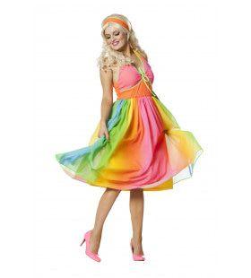 Regenboog Hippie Vrouw Kostuum
