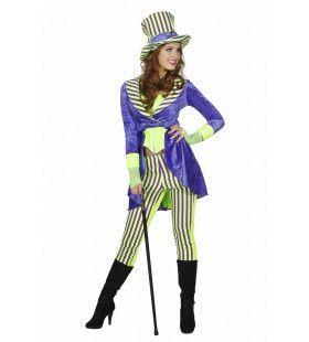 Jolly Joker Streep Vrouw Kostuum