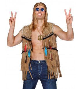 Bruin Vest Indiaan Hippie Joehoe Man