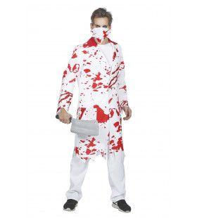 Zombie Dokter Hakken Maar Man Kostuum