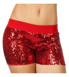 Hotpants Pailletten Rood Vrouw