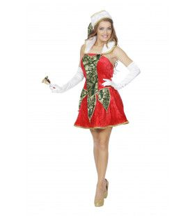 Koket Kerst Elfje Vrouw Kostuum