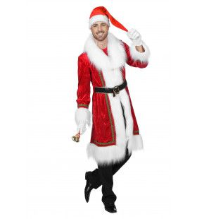 Kerstmantel Velours Harig Kostuum