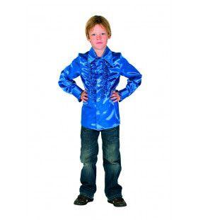 Blauw Bink Disco Blouse Met Ruches Kind