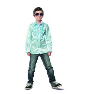 Magic Mint Disco Blouse Met Ruches