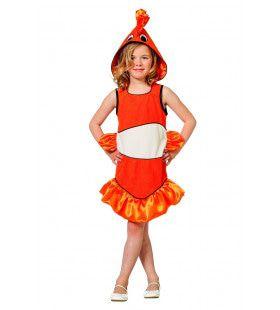 Tropische Clownvis Nemo Meisje Kostuum