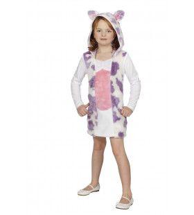 Bijzondere Alpenwei Koe Lila Meisje Kostuum