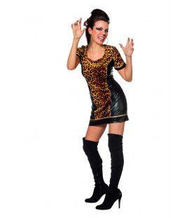 Lekker Loom Savanne Luipaard Vrouw Kostuum