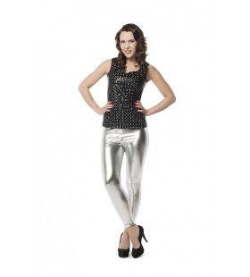 Nauwsluitende Legging Zilver Vrouw