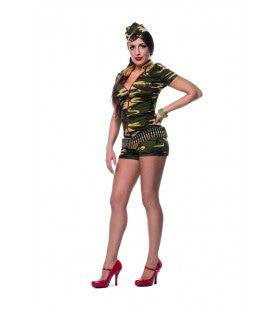 Catsuit Camouflage Droom Leger Vrouw Kostuum