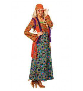 Hippie Met Hallucinerend Patroon Vrouw Kostuum