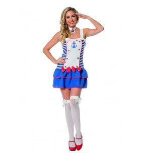 Stevig Voor Anker Matroos Vrouw Kostuum