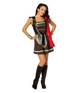 Romeinse Strijdster Victoria Gaudiosa Vrouw Kostuum