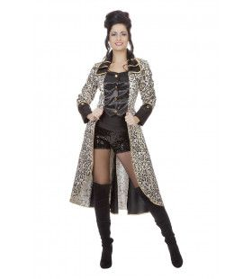 Pikante Perzische Zwarte Panter Jas Vrouw