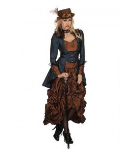 Steampunk Sally Wild Wild West Vrouw Kostuum