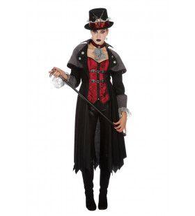 Steampunk Vampier 19e Eeuw Jas Vrouw