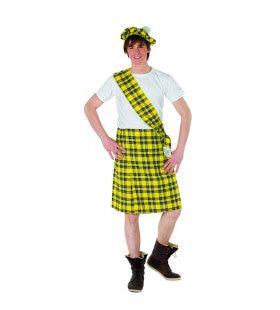 Set Schot Tartan Geel Motherwell Man Kostuum