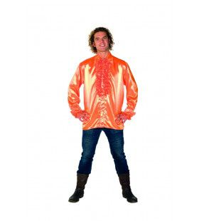 Dolle Disco Ruches Blouse Oranje Man