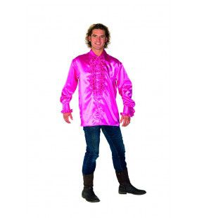 Dolle Disco Ruches Blouse Roze Man