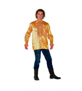 Dolle Disco Ruches Blouse Goud Man