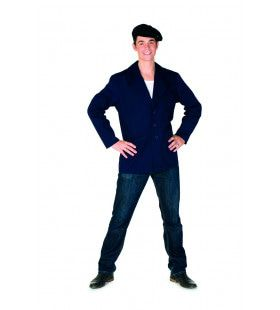 Jas Boer Op Chique Donkerblauw Man